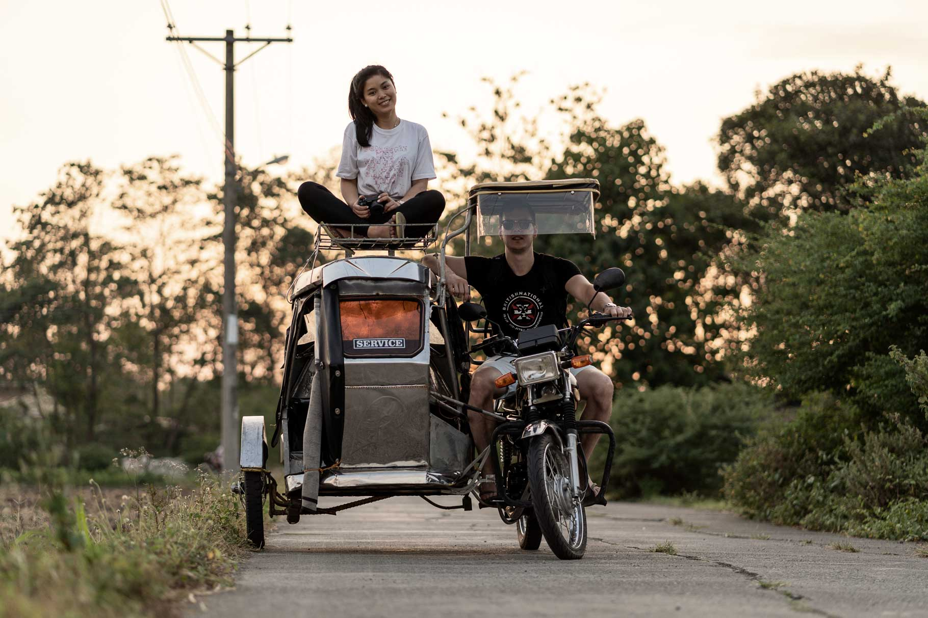 me and my wife on a trike